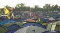 Glastonbury campsite