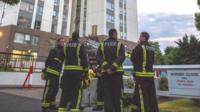 Fire crews on a watching brief at the Chalcots state