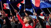 Marine Le Pen supporters in Nantes