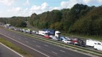 Motorists stuck on the M3