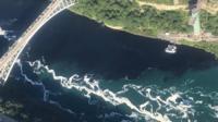 Black discharge in Niagara River