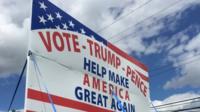 Vote Trump sign