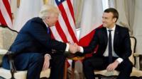 Donald Trump and Emmanuel Macron.
