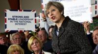 Theresa May in Bridgend