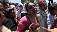 Transgender people in Peshawar react to the killing of a transgender activist