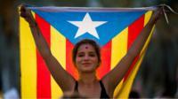 Catalan protester
