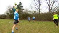 Warwick Quidditch Club in training