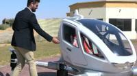 Man opens door of drone