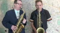 David and Neill playing their saxophones