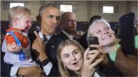 The former US president warned an audience of young people in Chicago to be careful on social media.