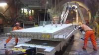Crossrail engineers working beneath Liverpool Street station