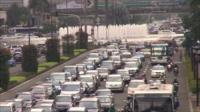 Heavy traffic in Jakarta