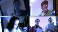 A choir based around the UK uses modern technology to rehearse