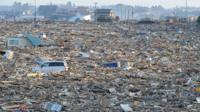 Debris covered a large area in Natori, near Sendai in Miyage prefecture of Japan, after the earthquake and tsunami in March.