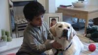 James and his hearing dog Kurt.