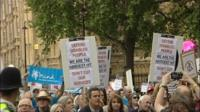 Protest march on disability benefit changes