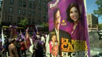 Political rally in New York for Dominican Republic's presidential election