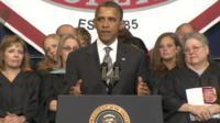 Barack Obama speaks at the Joplin High School graduation 21 May 2012