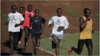 Kenyan runners