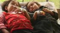 Poisoned Afghan schoolgirls.