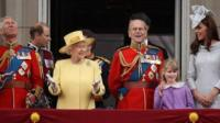 Queen Elizabeth II, Prince Philip, Duke of Edinburgh, and other members of the Royal Family