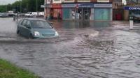Flooding at the junction of Fosse Road North, Groby Road and Blackbird Road, Leicester