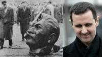 Stalin and Assad composite image