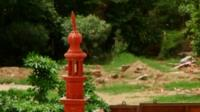 A minaret discovered at the site