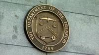 A US Department of Treasury sign