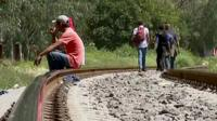 Migrants in the Mexico shelter