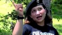 A Farc rebel singing a rap song