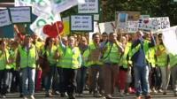 Lufthansa strike march