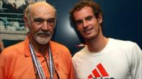 Sir Sean Connery with Andy Murray