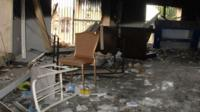 Burned out remains of US consulate