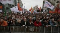 Protestors in Moscow