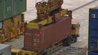 Container transport in Singapore