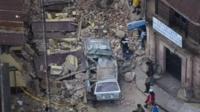 Devastation in San Marcos