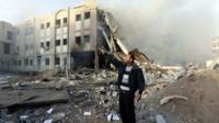 Bombed Interior Ministry, Gaza