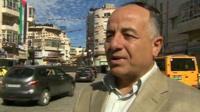 Man on street of Ramallah