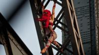 Seanna Sharpe on bridge