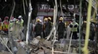 Damages at Pemex building in Mexico