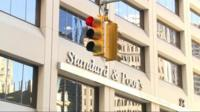 Standard and Poor's sign on the side of a building