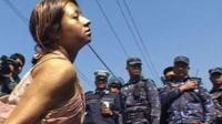 Women protest in Kathmandu, Nepal