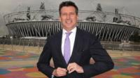 Lord Coe in front of the Olympic Stadium