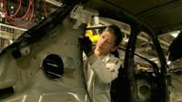 Peugeot car factory production line