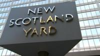 Sign for New Scotland Yard