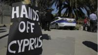 Hands off Cyprus sign