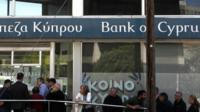 Bank of Cyprus in Nicosia, Cyprus, 28 March