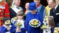 Queen at Maundy service in Oxford