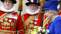 The Queen and Yeoman of the Guard